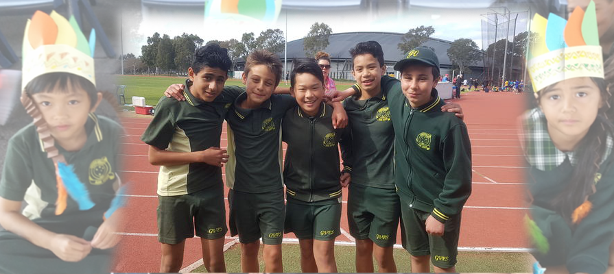 Students at athletics carnival.