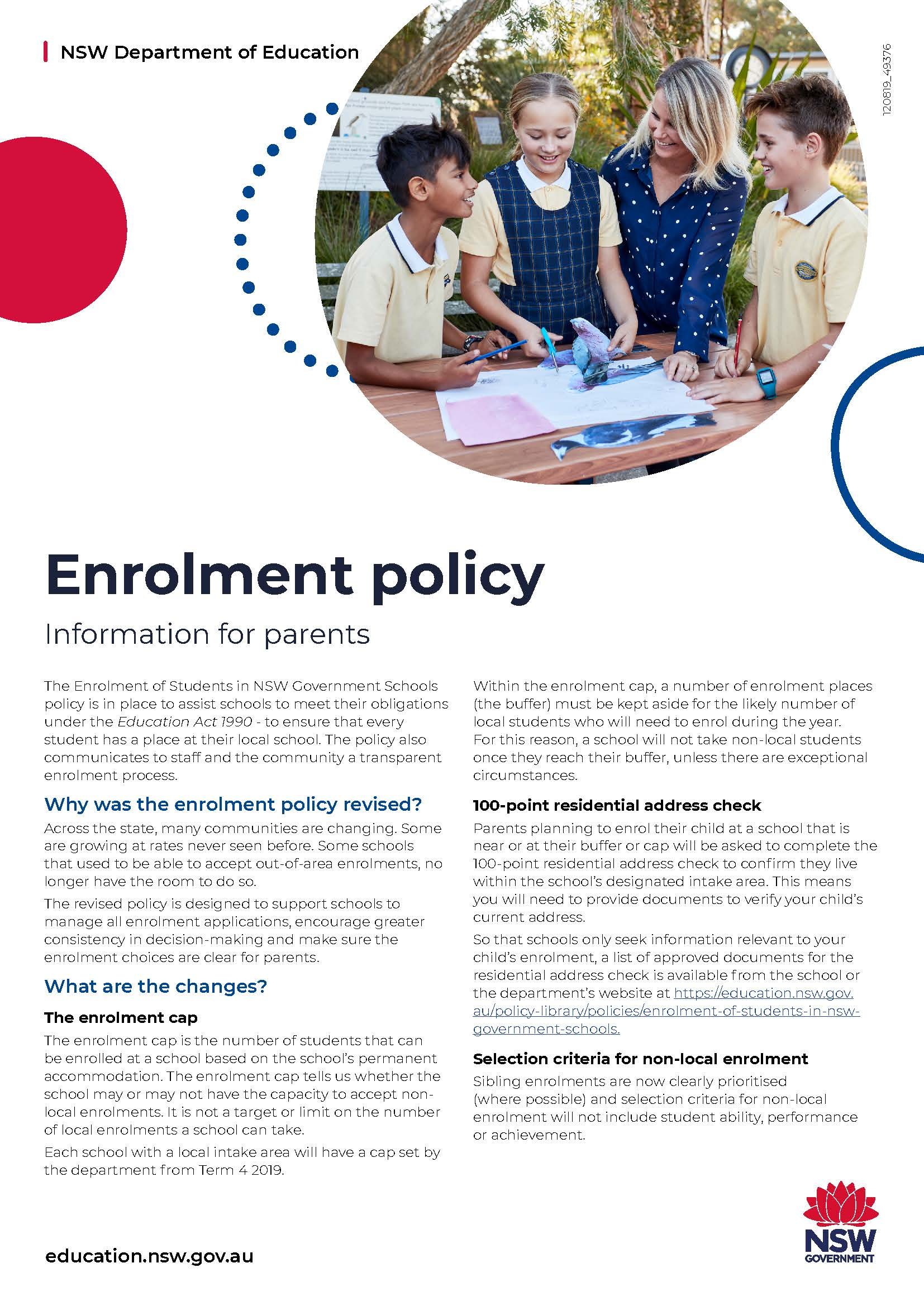 Changes to enrolment